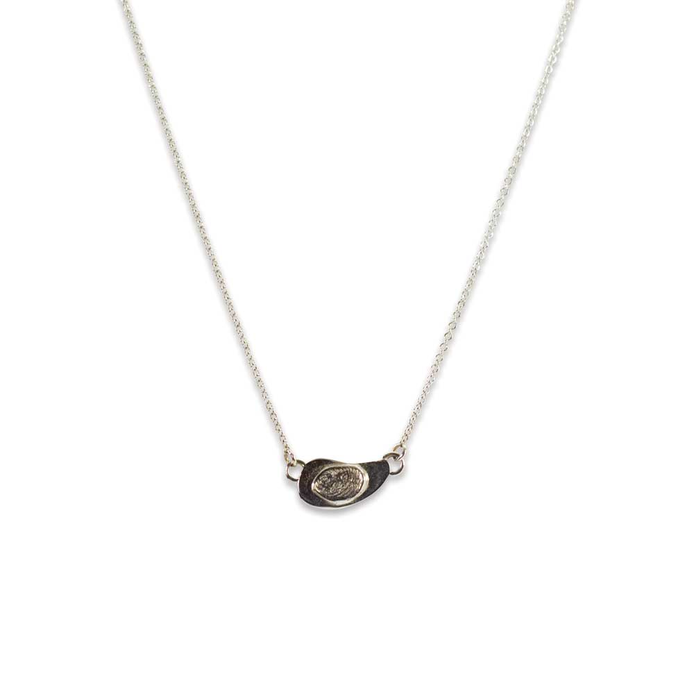 bean product button personalised buttonbean original necklace by charm silver fingerprint and