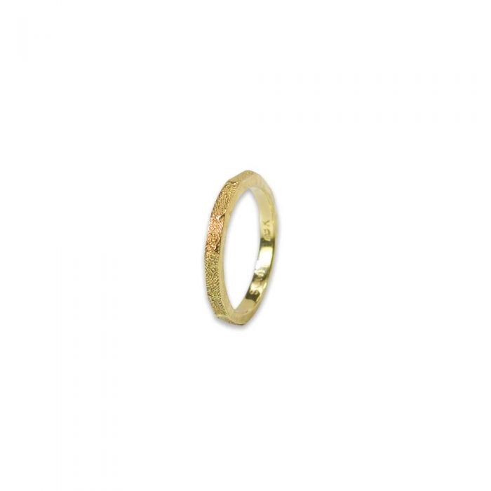 Fingerprint Band in Yellow Gold