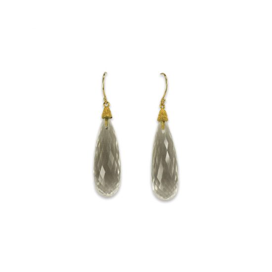 Faceted Quartz Drop Earrings