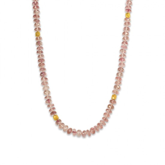 Pink Quartz Strand Necklace