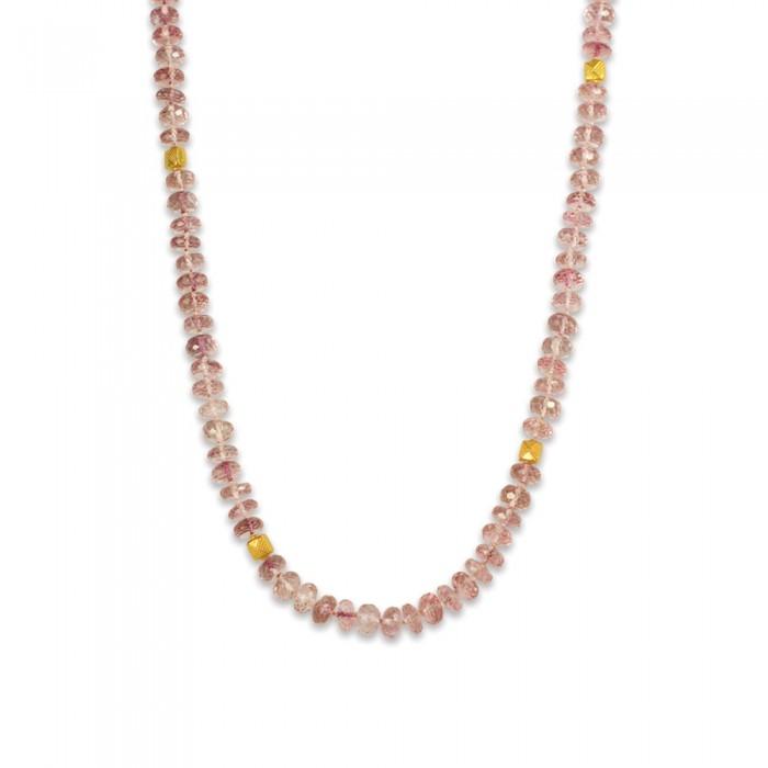 Pink Quartz Strand Necklace_44438