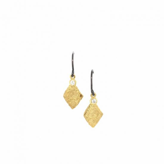 Diamond Trigon Earrings