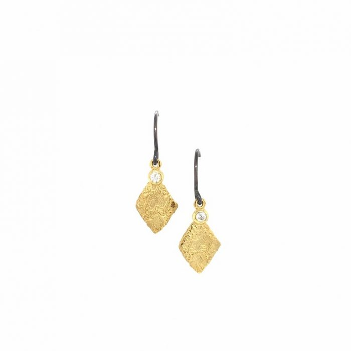 Diamond Trigon Earrings