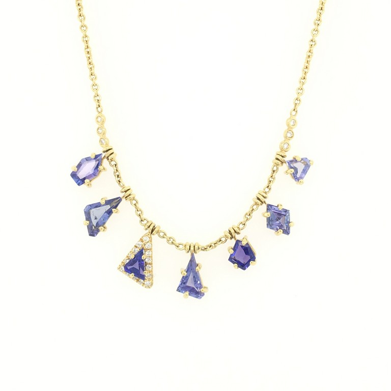 Tanzanite Fringe Necklace