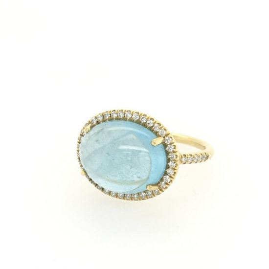 Aquamarine Cocktail Ring