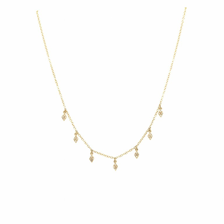Golden Diamond Kite Necklace