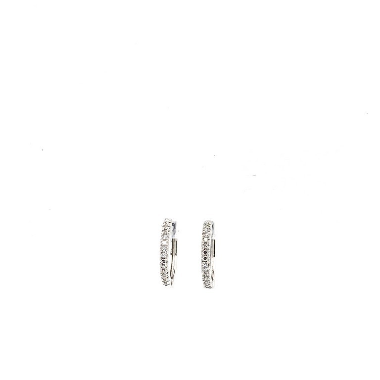 Small Diamond Huggies in White Gold