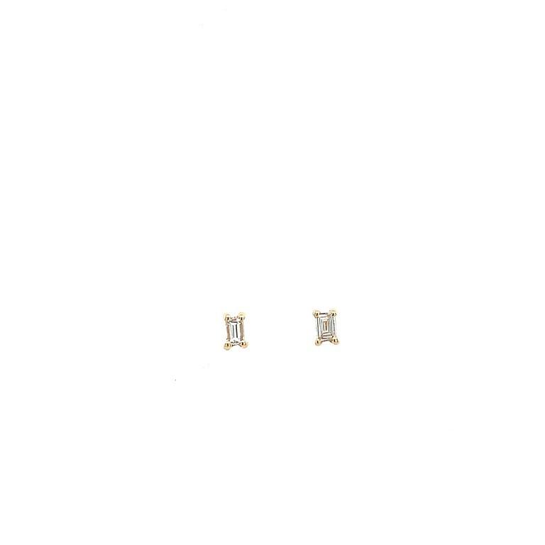 Petite Diamond Baguette Studs