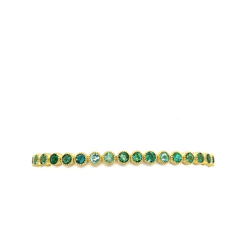 Green Tourmaline Ombre Tennis Bracelet