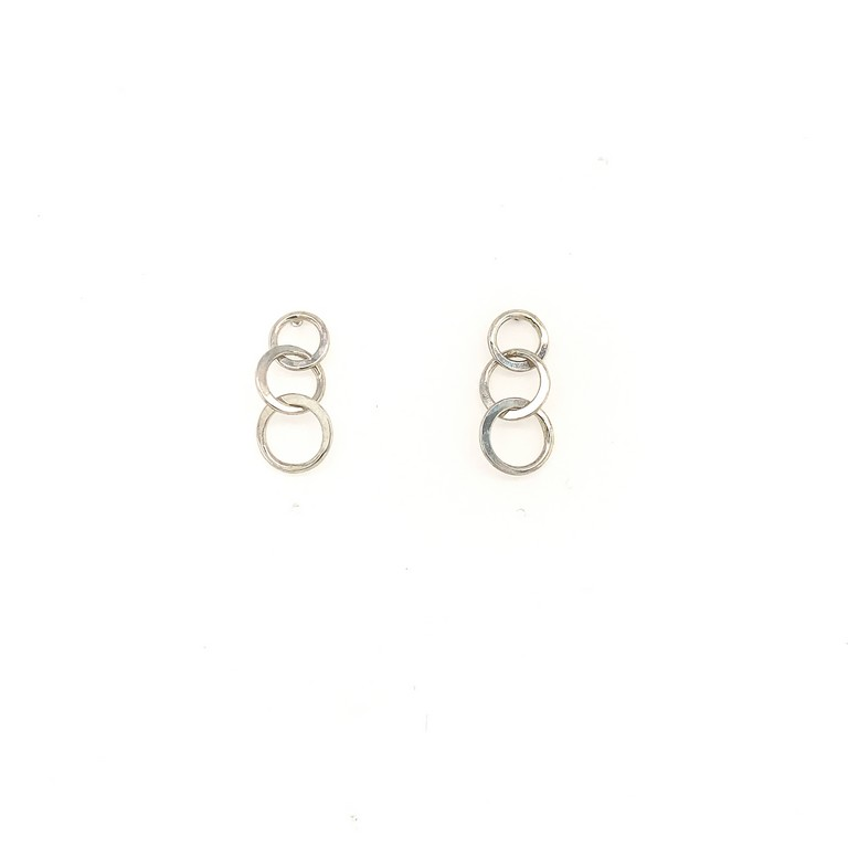 Sterling Mini Triple Circle Studs