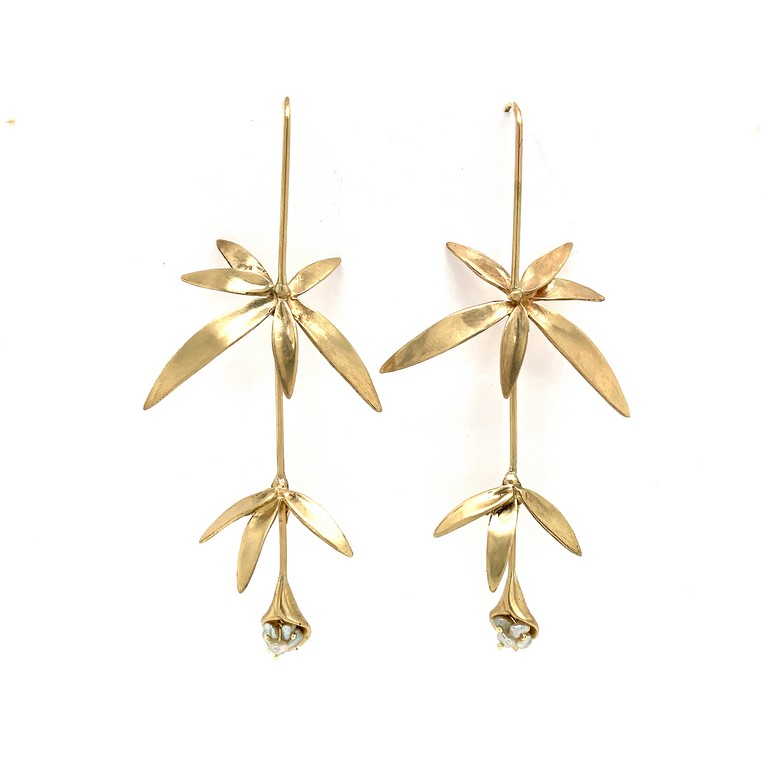 Long Wildflower Earrings