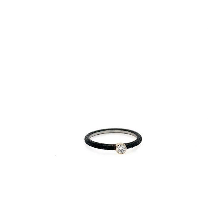 Black Pebble Stack with White Diamond
