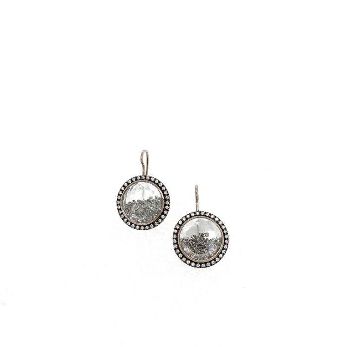 Halo Diamond Shake Earrings