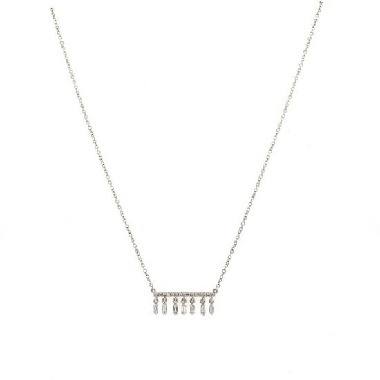 Fringe Diamond Bar Necklace