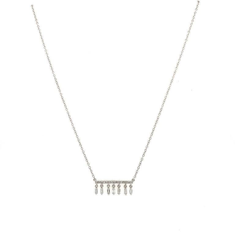 Fringe Diamond Bar Necklace