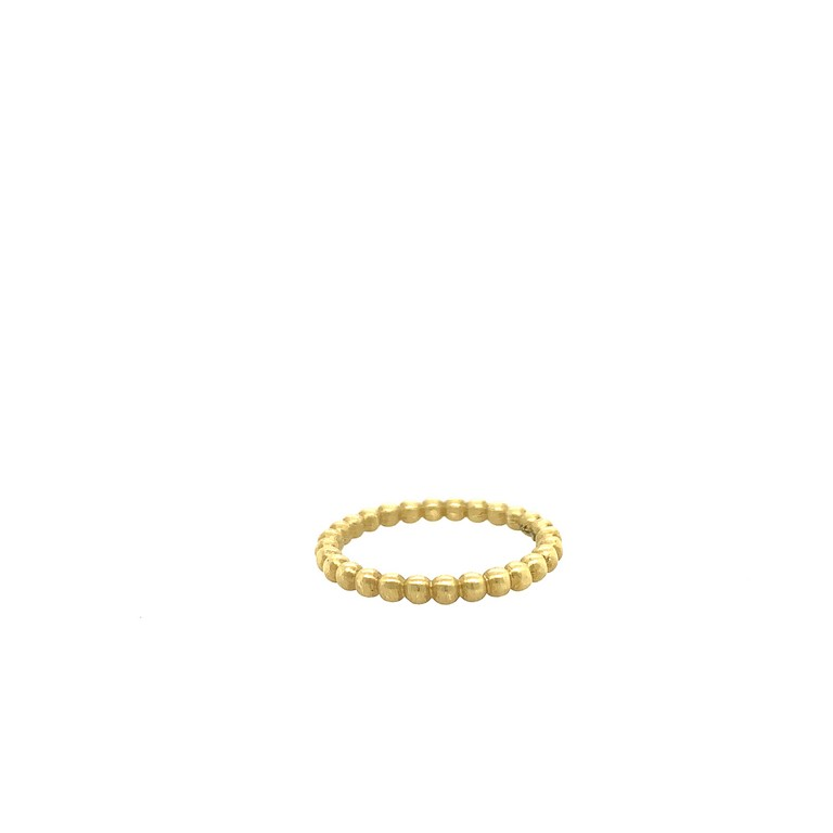 Golden Bead Stack Ring