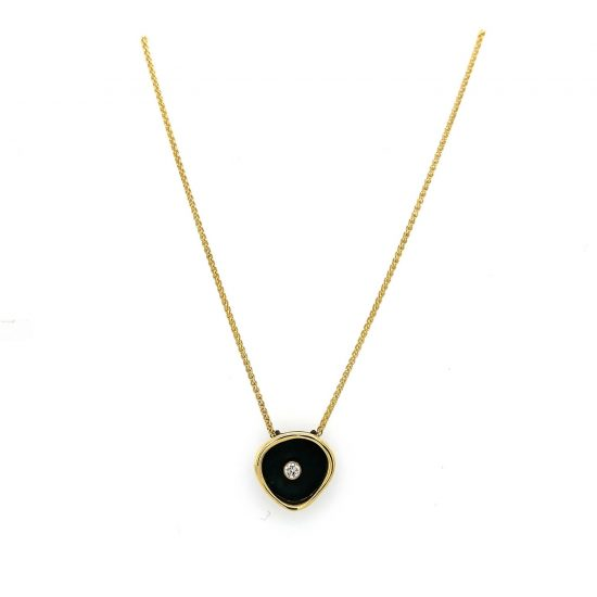 Confluence Single Large Cup Diamond Necklace