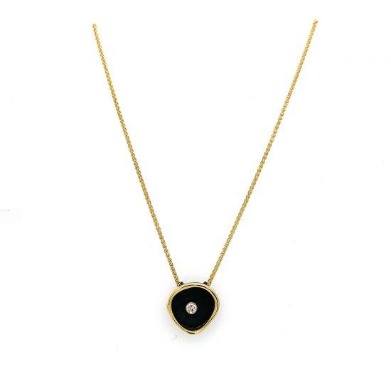 Confluence Single Large Cup Diamond Necklace