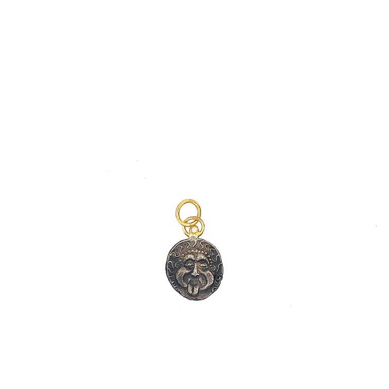 Gorgon and Anchor Ancient Coin Charm