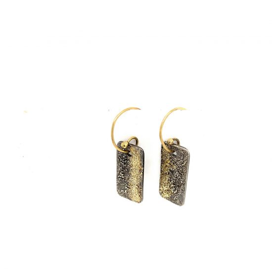 City Block Earring in Black and Gold