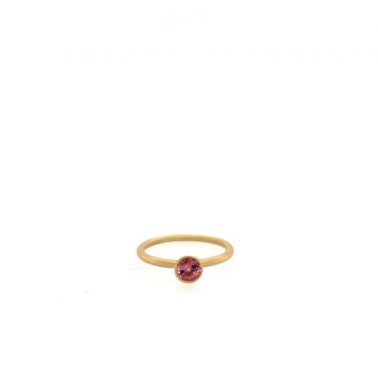 Pink Tourmaline Stacker Ring
