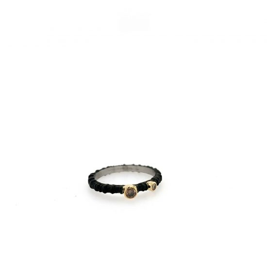 Aspen Ring with Cognac Diamond
