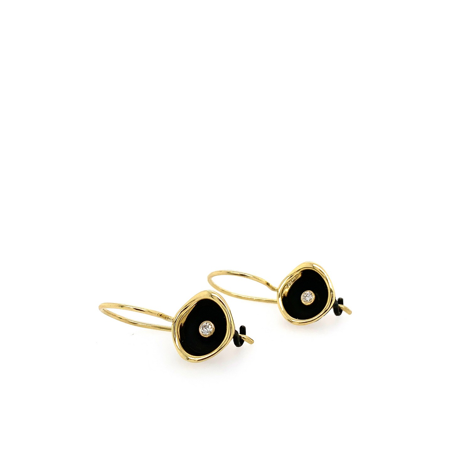 Confluence Two Tone Small Cup Diamond Earrings