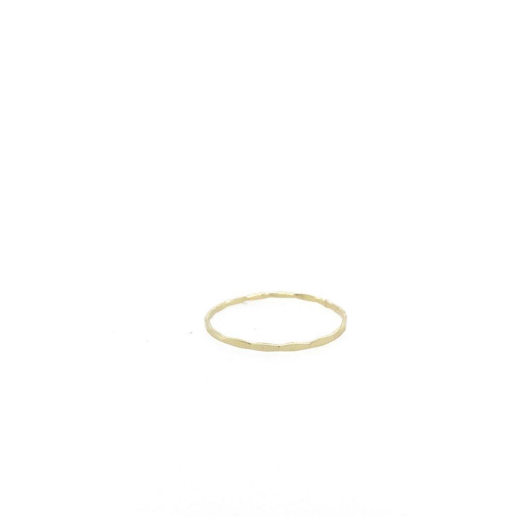 14K Gold Thin Stacker Ring