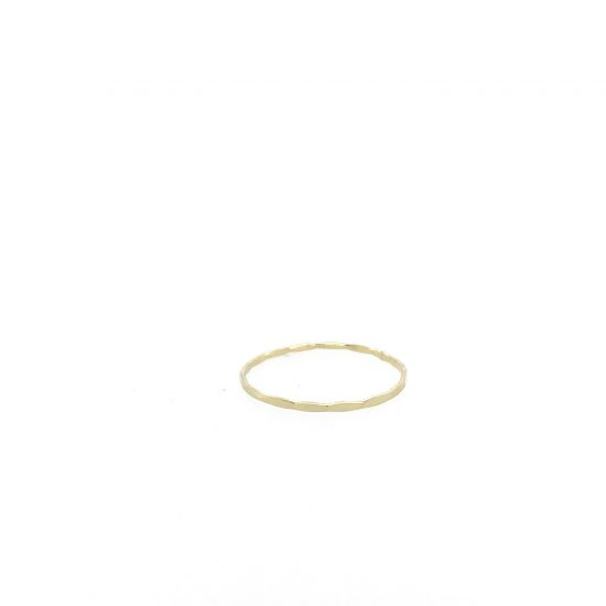 14K Gold Thin Stacker Ring