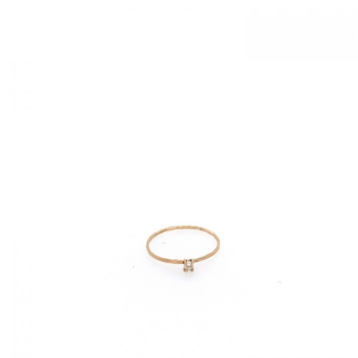 14K Gold Tiny Pearl Stacker