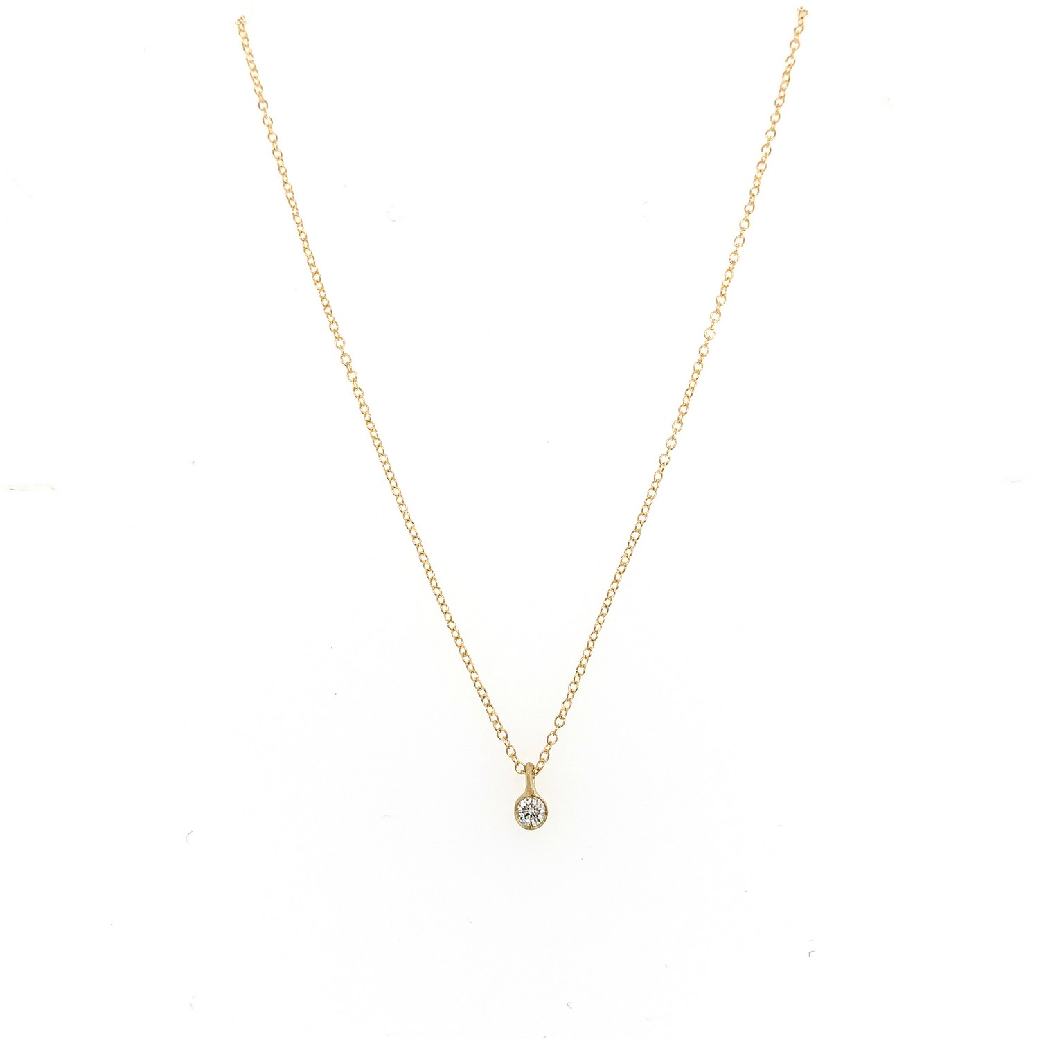 Just a Diamond Gold Pendant with a 7 point diamond.
