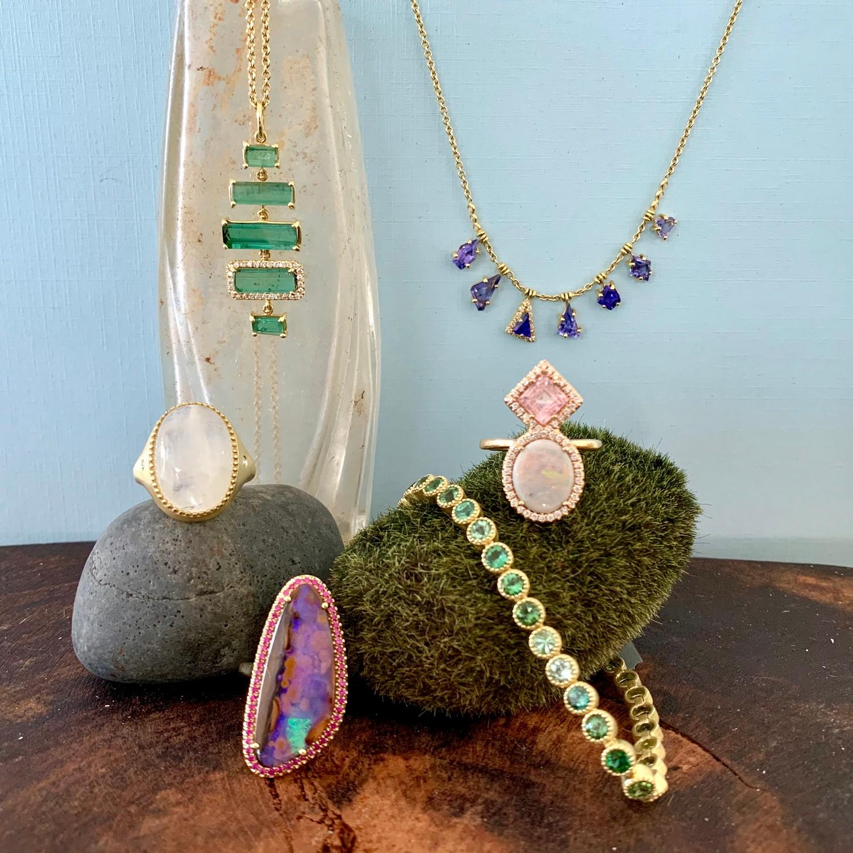 lauren k necklace, ring, and bracelet.