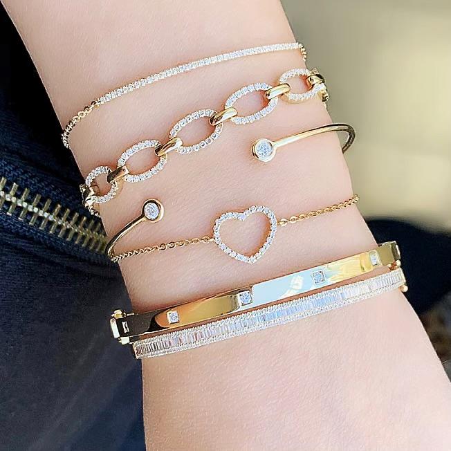 liven co diamond and gold bracelets