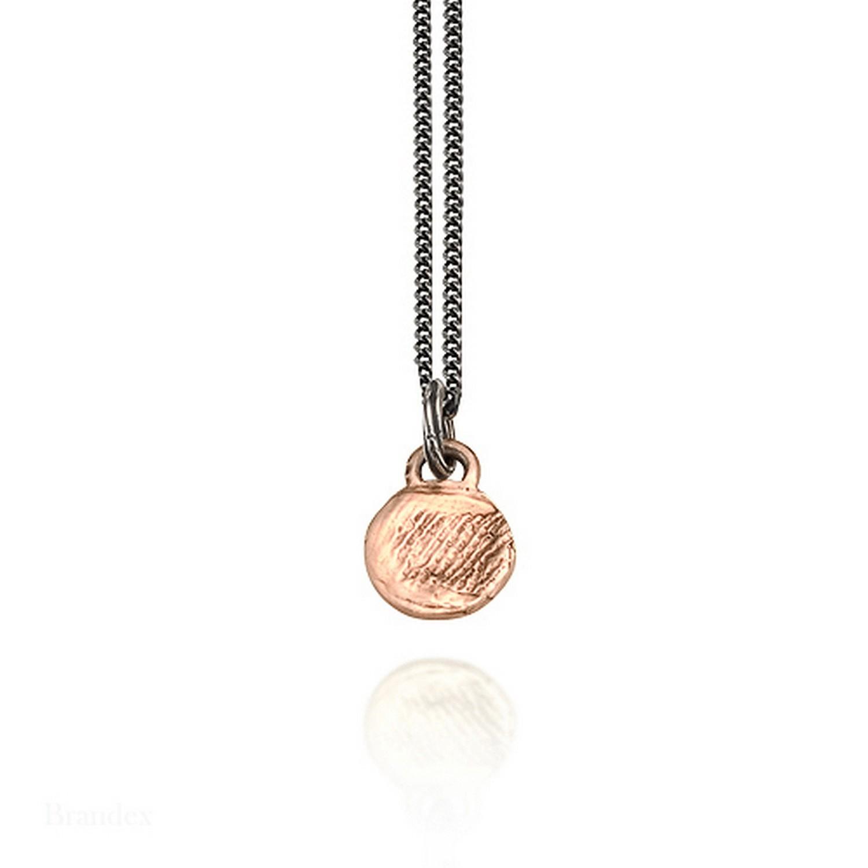 Pink Gold small round fingerprint pendant
