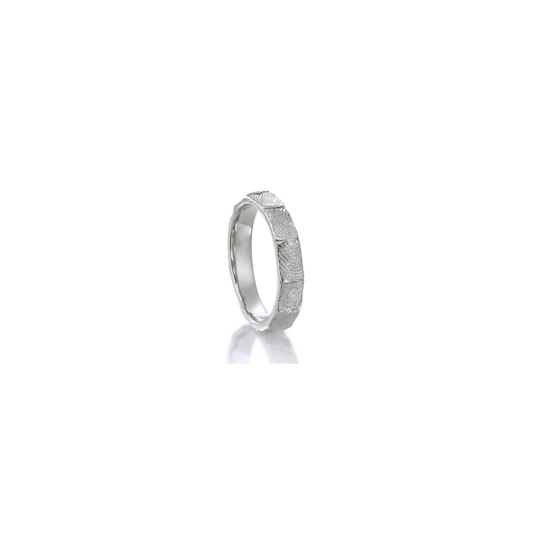 18K White gold fingerprint wedding band