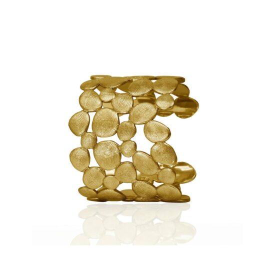 18K Gold fingerprint cuff