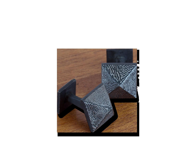 fingerprint square cuff links