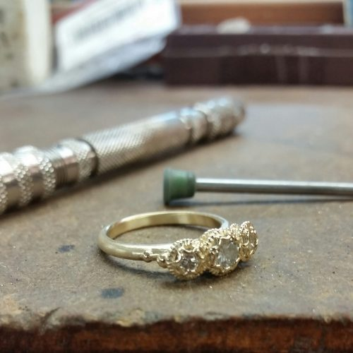 Megan Thorne Three Stone Ring Studio Works