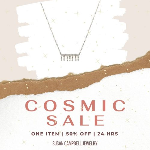White Gold Diamond Liven Necklace SALE